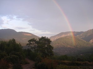 Rainbow over Olympos valley