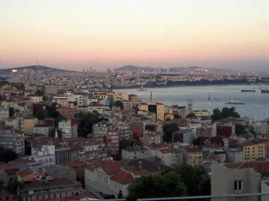 Istanbul on our last evening.